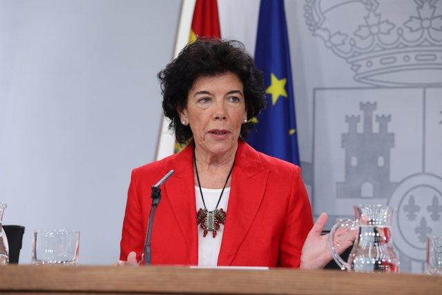 Roda de premsa de la portaveu del Govern, Isabel Celaá