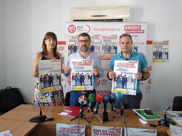 Presentación de una campaña nacional de UGT por los derechos en la agricultura.