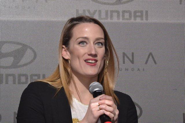 Mireia Belmonte en un acto de Hyundai