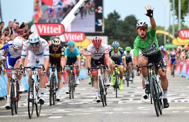 Peter Sagan (Bora-Hansgrohe), ganador de la 13ª etapa del Tour de Francia 2018