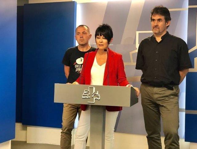 Foto de archivo de Maddalen Iriarte con Unai Urruzuno y Pello Urizar