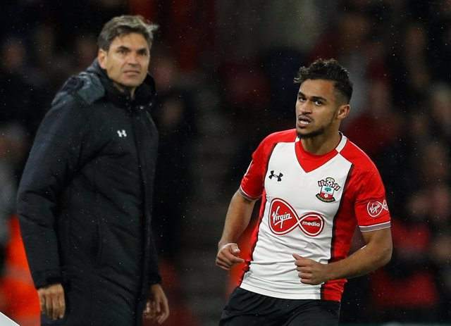 Sofiane Boufal y Mauricio Pellegrino en el Southampton