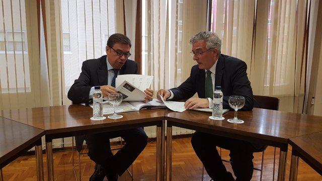Reunión de Luis Planas y Joaquín Olona