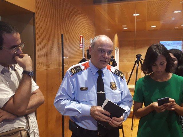 El jefe de la Comisaría General de Movilidad de los Mossos, Vicenç Gasulla