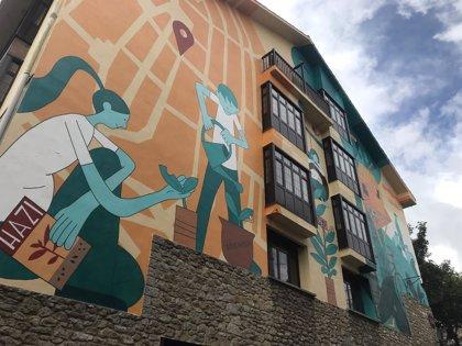 Inaugurado el mural del colegio público Ramón Bajo, en Vitoria