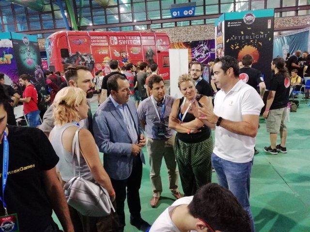 Ruiz espejo en gamepolis con montserrat reyes videojuegos apoyo junta
