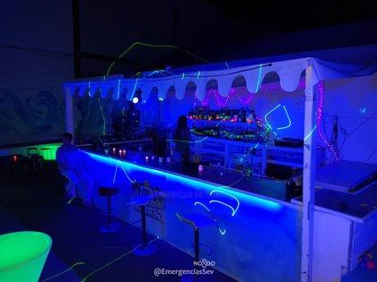 Desalojada y clausurada la terraza de verano de una discoteca de Sevilla que carecía de licencia