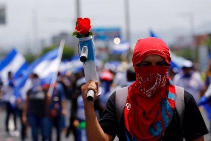 Miles de nicaragüenses vuelven a tomar las calles de Managua en una nueva jornada de protestas