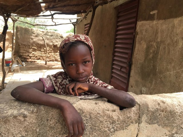 Una niña en Malí
