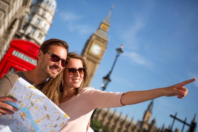 Turistas en Londres