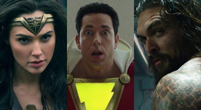 Shazam Aquaman Wonder Woman DC