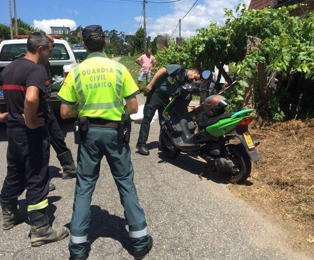 Accidente en Mos este domingo