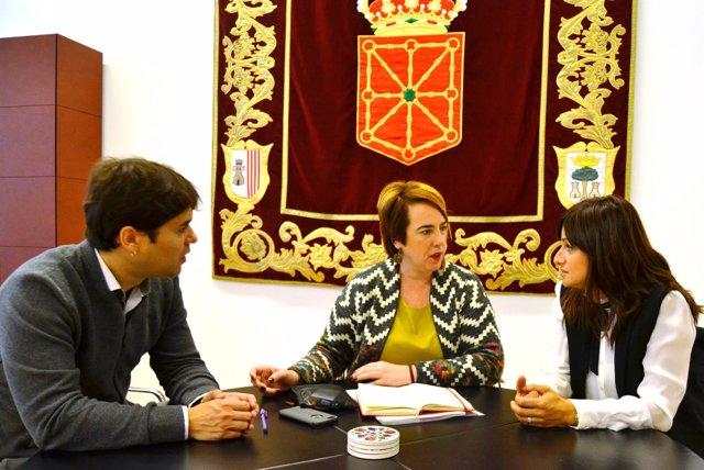 Pablo Azcona, Ainhoa Aznárez y Raquel Garbayo.