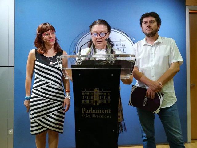 Podemos, Mae de la Concha, Laura Camargo, Alberto Jarabo