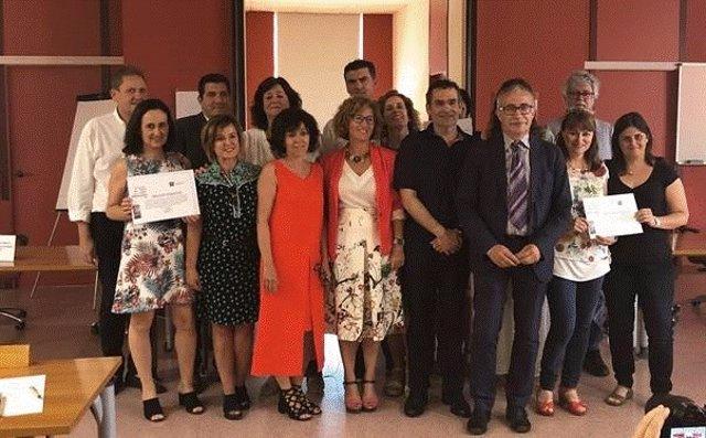 Foto de familia de los premios a la mejor alfabetización en salud