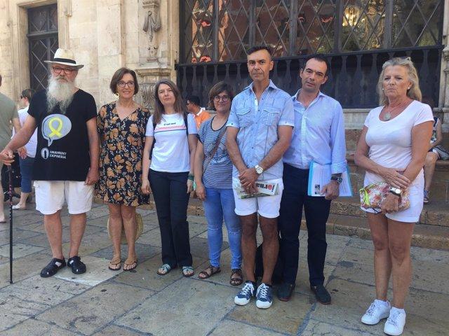 Representantes de las asociaciones de vecinos del centro de Palma