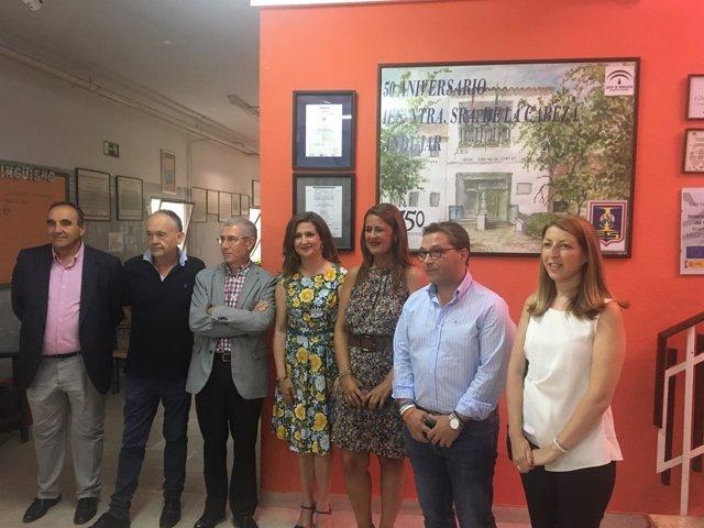 Visita de Sonia Gaya a Andújar