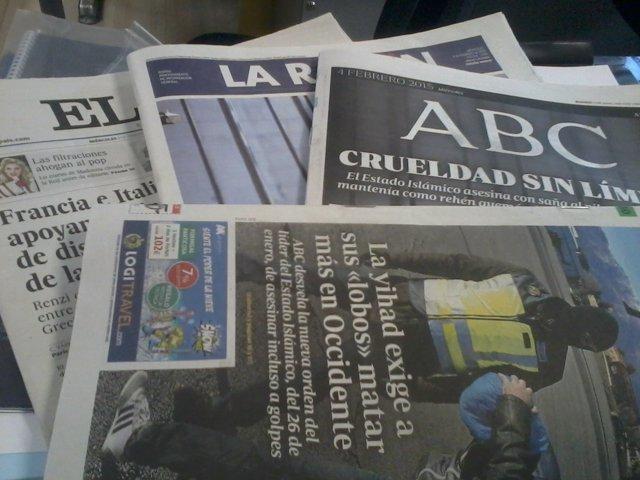 Prensa periódicos quiosco