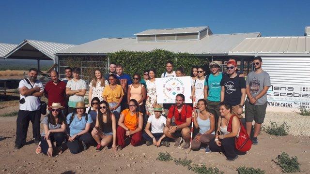 Participantes en el campo de trabajo del IAJ en Cástulo