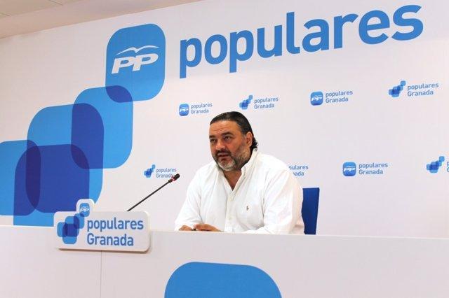El secretario general del PP de Granada, Pablo García.