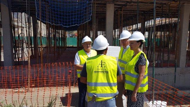 Visita a las obras del centro de salud de Gibraleón (Huelva).