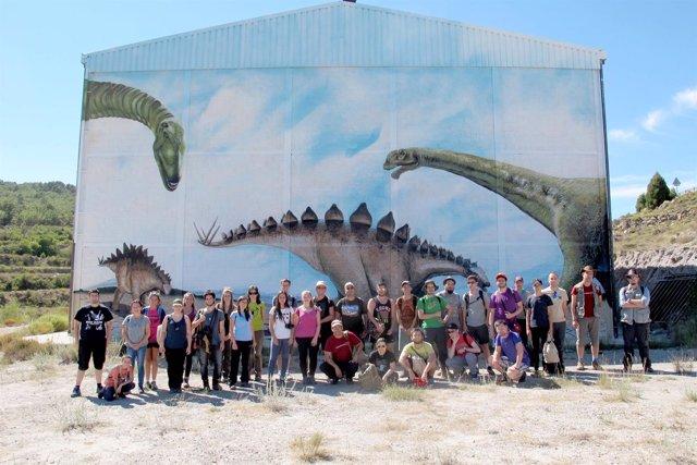 Alumnos participantes en el curso sobre Paleontología y Desarrollo.