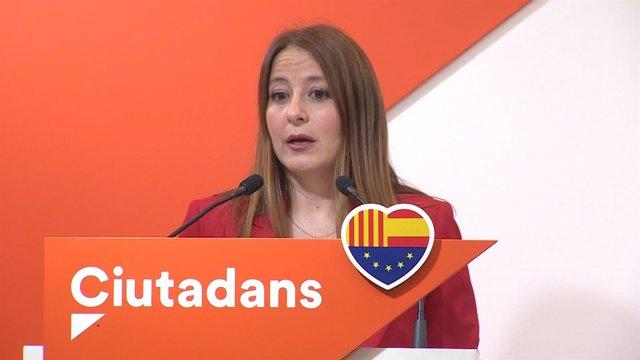 Sonia Sierra en rueda de prensa
