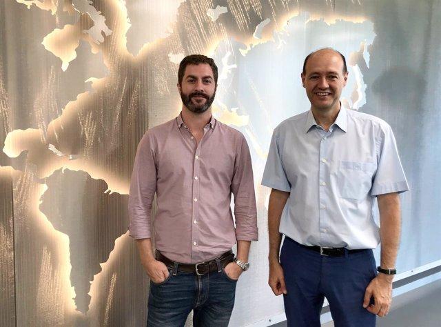 De izq. A dcha: Ignacio Fernández, Fundador y CEO de Clue Technologies, y Pedro