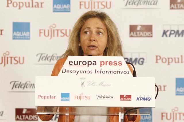 Consuelo Madrigal en los Desayunos de Europa Press