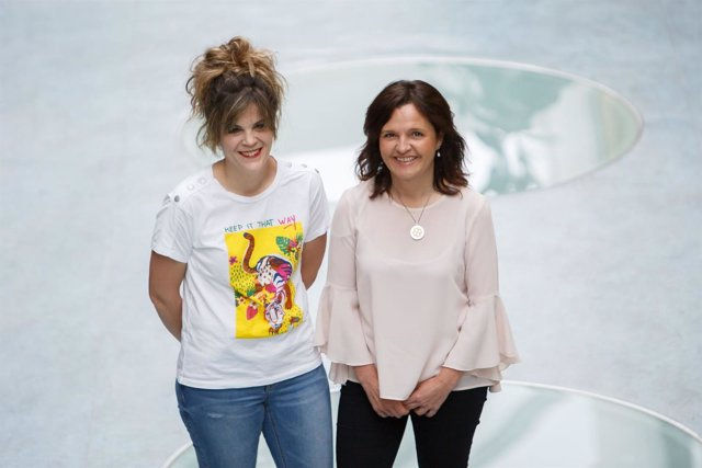 Las investigadoras Andrea Ollo y Salomé Goñi
