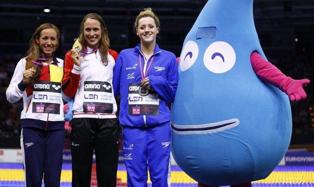 Jessica Vall gana el bronce en los 200 metros braza