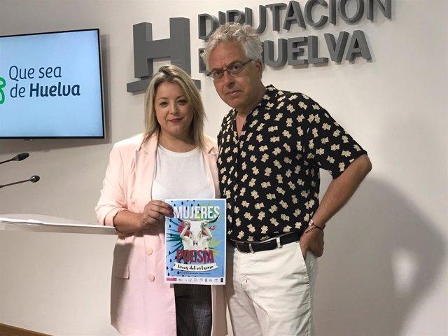 Lourdes Garrido, junto a Antonio Orihuela.