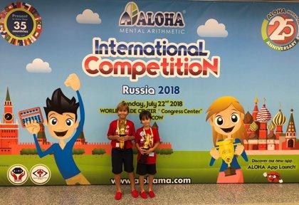 Dos hermanos toledanos se proclaman Campeones del Mundo de Cálculo Mental en Rusia