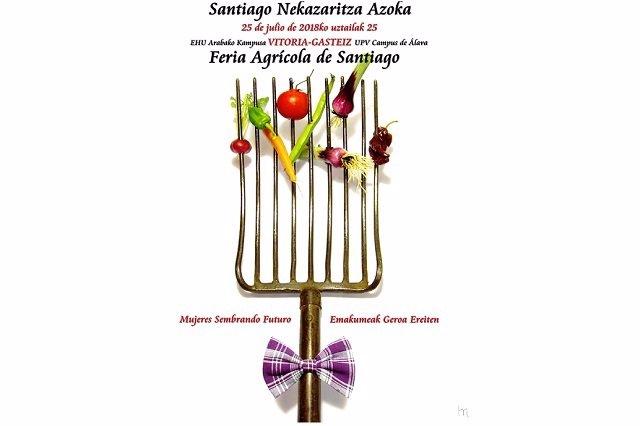 Cartel Feria de Santiago, dedicada a las mujeres agricultoras
