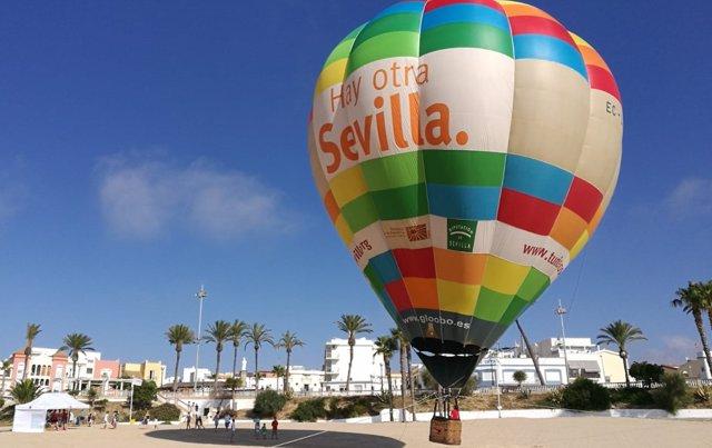 Globo aerostático de la Diputación de Sevilla