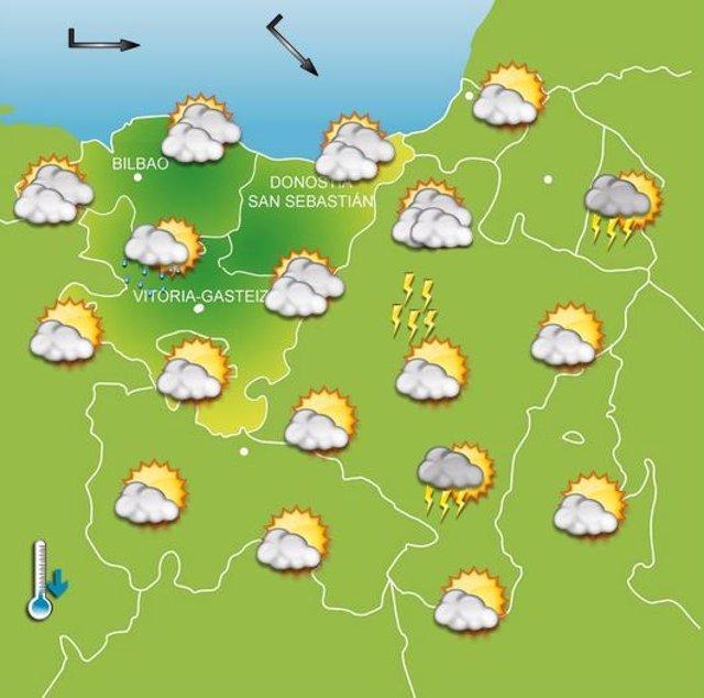 Previsiones meteorológicas para el 24 de julio