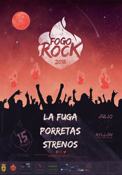 Ayllón (Segovia) fusiona este viernes fuego y música en el Festival Fogo Rock, con 'La Fuga' y 'Porretas'