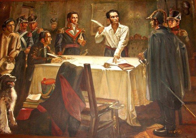 Resultado de imagen para Foto de Simón Bolívar proclama la primera Gran Colombia,
