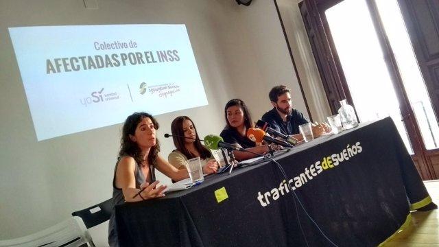 Representantes del colectivo de afectados por el INSS