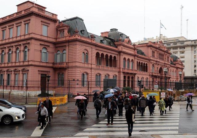 Detenido periodista en la Casa Rosada