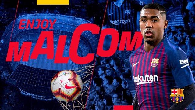 El nuevo jugador del FC Barcelona Malcom