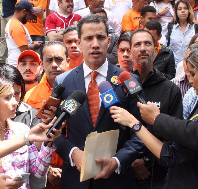 Juan Guaidó, dirigente del partido opositor venezolano Voluntad Popular