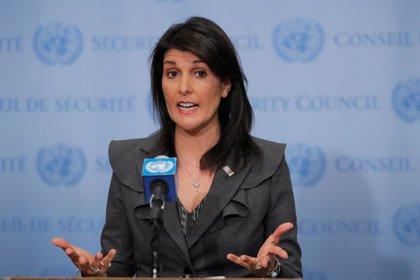 Haley insta a los países árabes e islámicos a actuar y destinar más fondos en ayudas a los palestinos