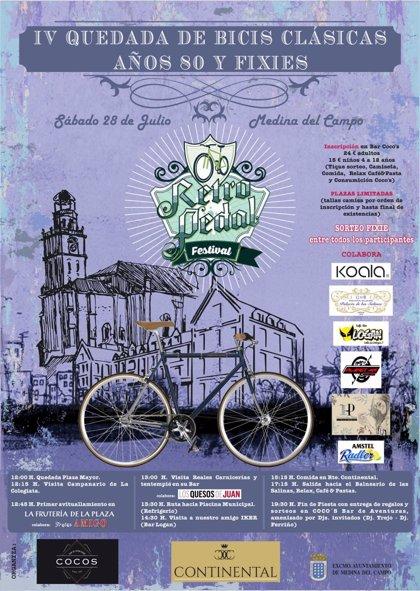 Fiesta de la bici clásica y la fixie, este sábado, en Medina del Campo (Valladolid)