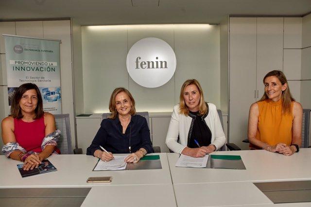 Firma del acuerdo entre Fenin y Federación ASEM