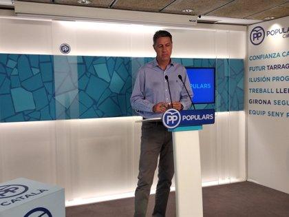 Albiol impulsará una campaña para exigir la retirada de 'estelades' del espacio público