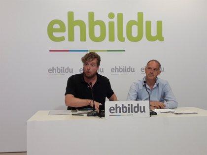 EH Bildu pide la paralización de las obras del TAV en Navarra y rechaza un convenio con el Gobierno central
