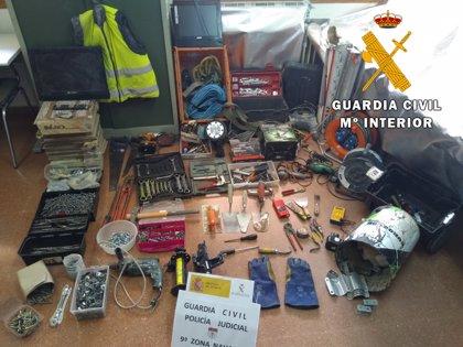 La Guardia Civil esclarece varios delitos de robo con fuerza cometidos en la Merindad de Olite