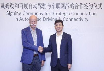 Daimler y la china Baidu colaborarán en el campo de la conducción autónoma