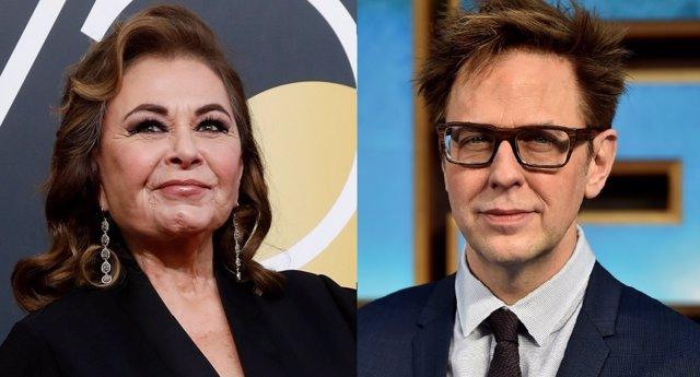 Roseanne Barr y James Gunn